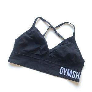 Gymshark Black White seamless Logo Sports Bra